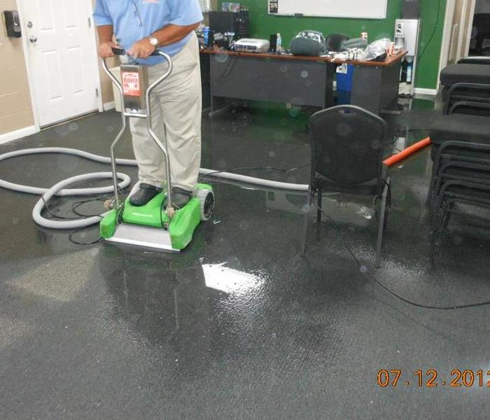 Commercial office water damage Before
