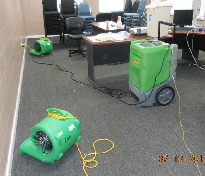 Commercial office water damage After