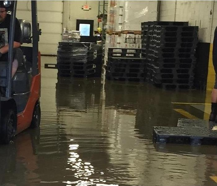 Commercial warehouse flood